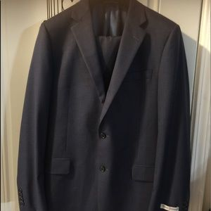 Hickey Freeman pinstripe blue men suit